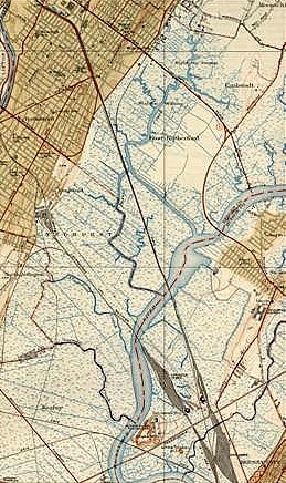 1940 meadowlands topo map